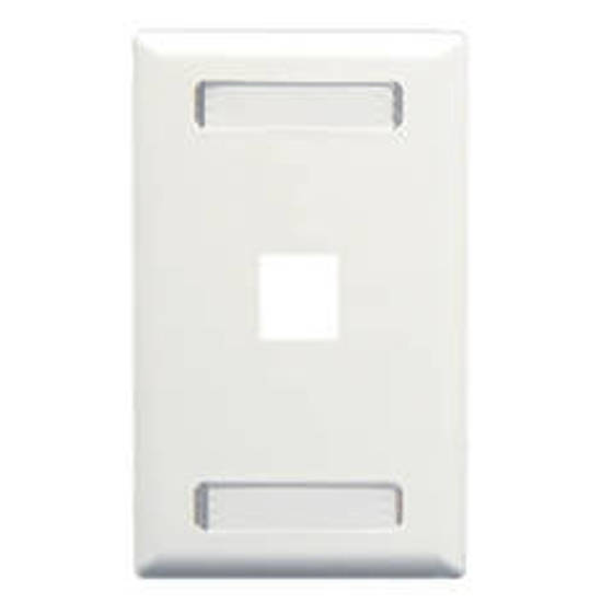 Picture of ICC IC107S01WH - FACEPLATE, ID, 1-GANG, 1-PORT, WHITE
