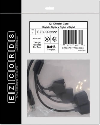 Picture of EZCORDS EZ80002222 - 4 Digital Cheater Cord