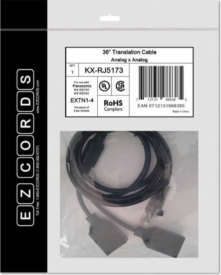 Picture of EZCORDS KX-RJ5173 - EXTN1-4 NS700 Translation Cable