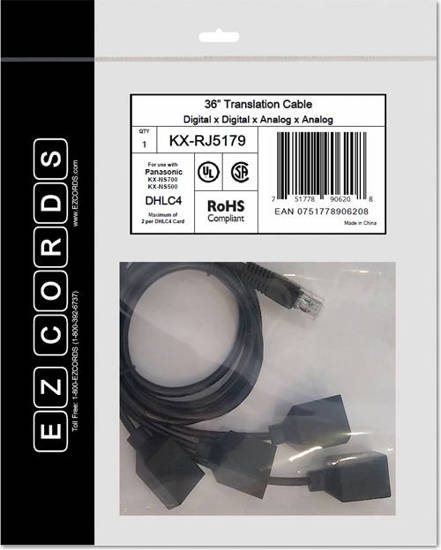 Picture of EZCORDS KX-RJ5179 - DHLC4 NS700 NS700 Translation Cable