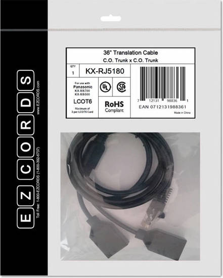 Picture of EZCORDS KX-RJ5180 - LCOT6 NS700 Translation Cable