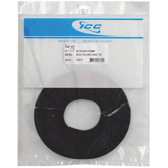 Picture of ICC ICACSV75BK - Velcro Tie Bulk 75ft - Black