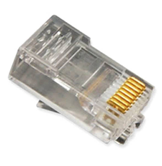 Picture of ICC ICMP8P8SRD - PLUG, 8P8C, OVAL ENTRY, SOLID, 100PK