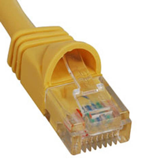Picture of ICC ICPCSJ01YL - PATCH CORD, CAT 5e, MOLDED BOOT, 1' YL