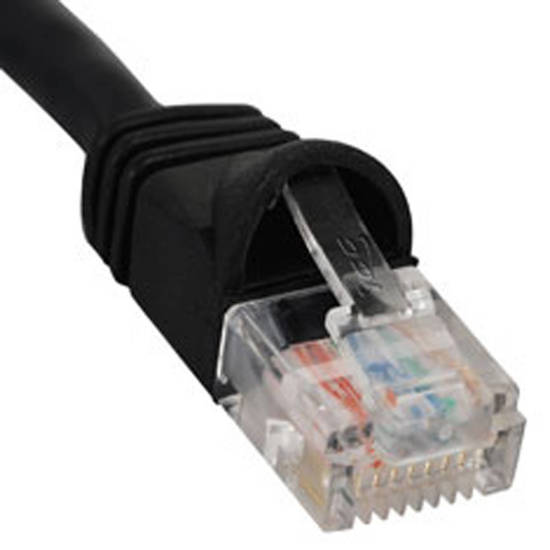 Picture of ICC ICPCSJ03BK - PATCH CORD, CAT 5e, MOLDED BOOT, 3' BK