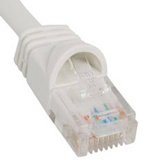 Picture of ICC ICPCSJ10WH - PATCH CORD, CAT 5e, MOLDED BOOT, 10' W
