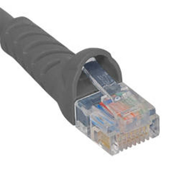 Picture of ICC ICPCSJ25GY - PATCH CORD, CAT 5E BOOTED, 25 FT, GRAY