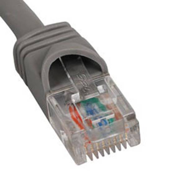 Picture of ICC ICPCSK01GY - PATCH CORD, CAT 6, BOOT, 1' GY