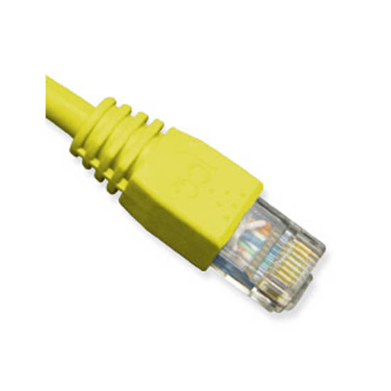 Picture of ICC ICPCSK01YL - PATCH CORD, CAT 6, BOOT, 1'  YL
