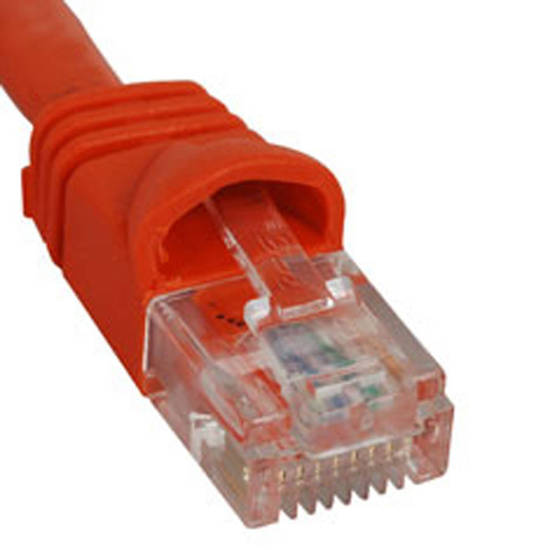 Picture of ICC ICPCSK10OR - PATCH CORD, CAT 6, MOLDED BOOT, 10' OR