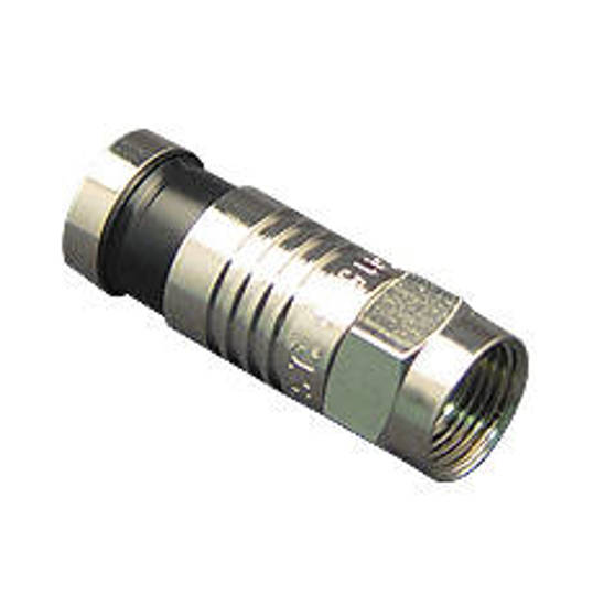Picture of ICC ICRDSAV01C - CONNECTOR, F-TYPE, RG6, 100PK