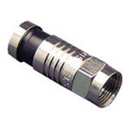 Picture of ICC ICRDSAV59C - CONNECTOR, F-TYPE, RG59, 100PK