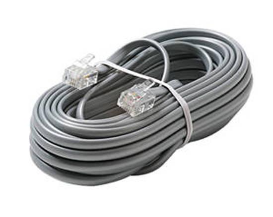 Picture of Steren 304-007SL - 4C 7' Silver Modular Line Cord
