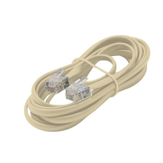 Picture of Steren 304-015IV - 4C 15' Ivory Modular Line Cord