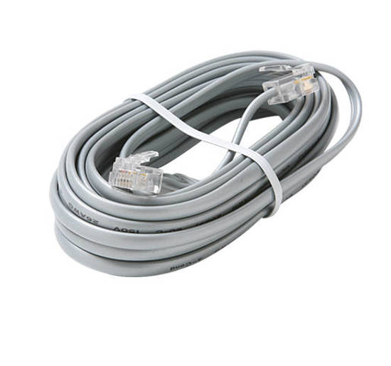 Picture of Steren 304-725SL - 4C 25' Silver Data Modular Cable