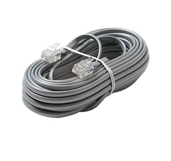 Picture of Steren 306-015SL - 6C 15' Silver Modular Line Cord