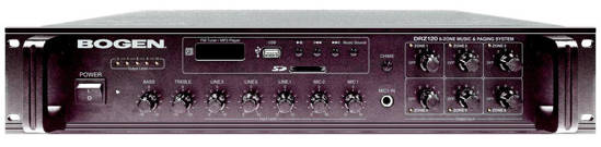 Picture of Bogen DRZ120 - 6 Zone Music and Paging System