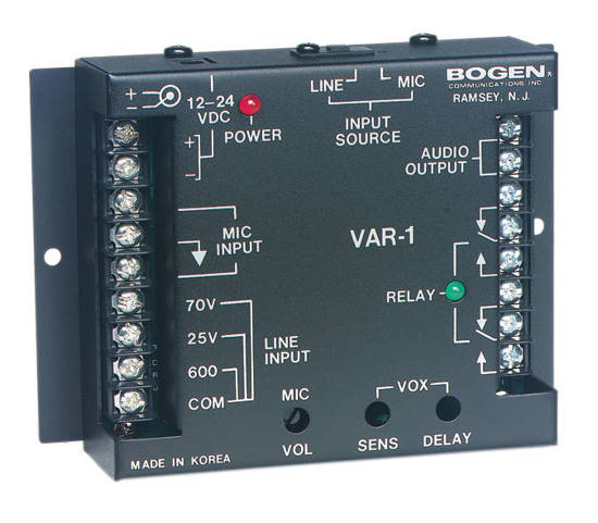 Picture of Bogen VAR1 - Voice Activated Relay