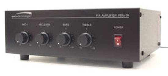 Picture of SPECO SPC-PBM30 - 30W Contractor Series PA Amplifier  UL