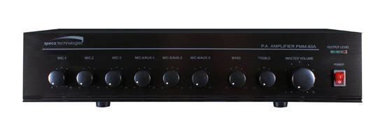 Picture of SPECO SPC-PMM120A - 120W PA Mixer Power Amplifier w/ 6 Input