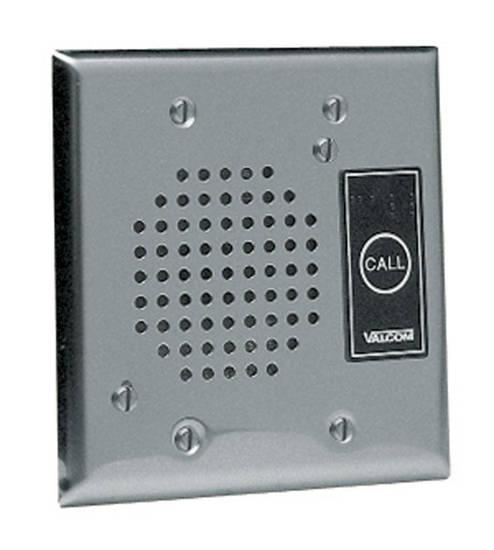 Picture of VALCOM V-1072A-ST - Talkback Doorplate Speaker - Stnless Stl