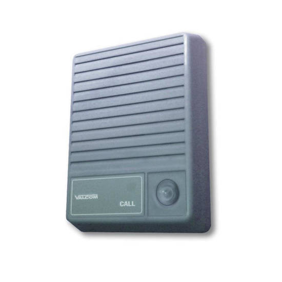 Picture of VALCOM V-1074 - Talkback Doorplate Surface Speaker- Gray