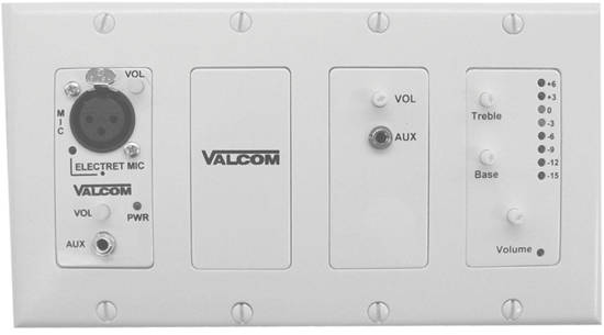 Picture of VALCOM V-9985W - In-wall Modular Mixer