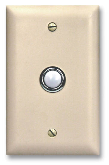 Picture of Viking Electronics DB-40-WH - Viking Door Bell Button Panel