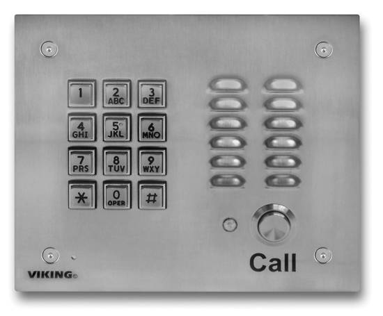Picture of Viking Electronics K-1700-3 - Handsfree Phone w/ Key Pad - Stainless