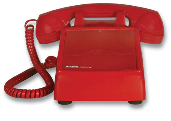 Picture of Viking Electronics K-1900D-2 - Hotline Desk Phone - Red