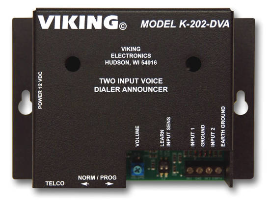 Picture of Viking Electronics K-202-DVA - Two-Input Voice Alarm Dialer
