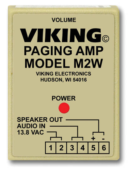 Picture of Viking Electronics M2W - Paging Power Amp w/25AE Paging Horn Inc.