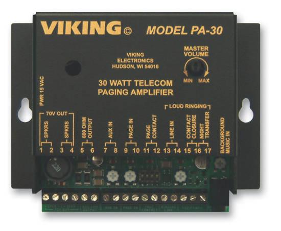 Picture of Viking Electronics PA-30 - Viking 30 Watt Telecom Paging Amp