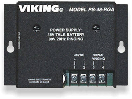 Picture of Viking Electronics PS-48-RGA - Power Supply, 48V Talk Battery