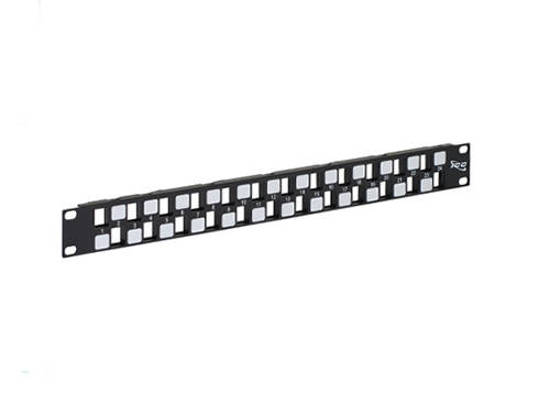 Picture of ICC IC107BE241 - PATCH PANEL, BLANK, EZ, 24-PORT, 1 RMS