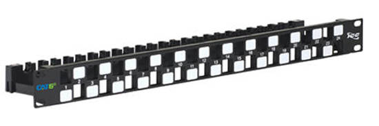 Picture of ICC IC107PPU6A - PATCH PANEL,BLANK,CAT 6A UTP,24PORT,1RMS