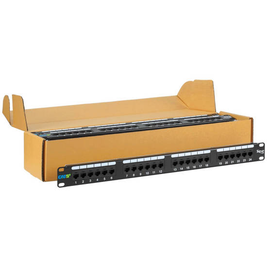 Picture of ICC ICMPP245EV - PATCH PANEL, CAT 5E, 24-PORT, 1RMS, 6 PK
