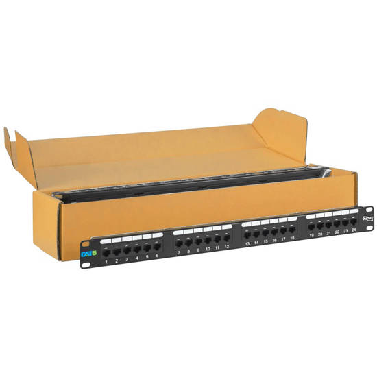 Picture of ICC ICMPP2460V - PATCH PANEL, CAT 6, 24-PORT, 1 RMS, 6 PK