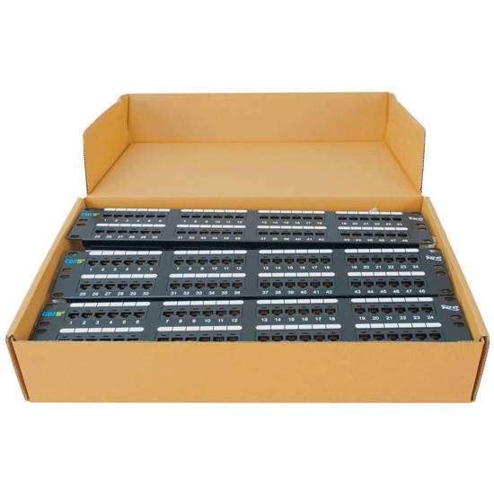 Picture of ICC ICMPP485EV - PATCH PANEL, CAT 5E, 48-PORT, 2RMS, 6 PK