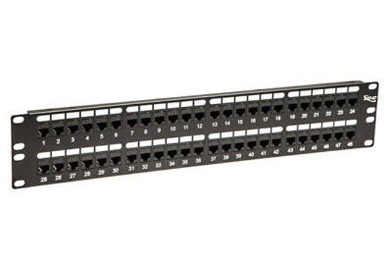 Picture of ICC ICMPP48CP5 - PATCH PANEL,CAT 5e, FEED-THRU 48-P,2RMS