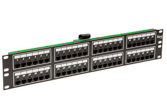 Picture of ICC ICMPP48T2C - PATCH PANEL, TELCO, 8P2C, 48-PORT, 2 RM