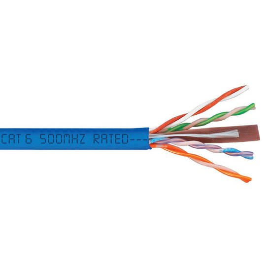 Picture of ICC ICCABP6VBL - CMP CAT6 PLENUM VALUE LINE 500 MHz Blue