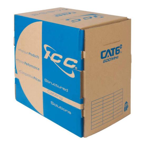Picture of ICC ICCABR6EBL - CAT6e CMR PVC Cable Blue