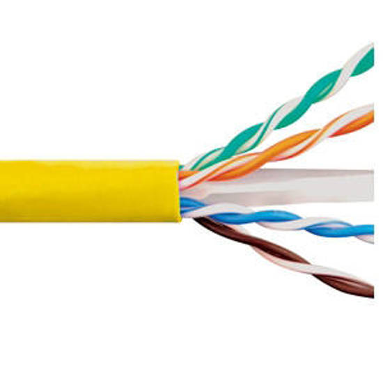 Picture of ICC ICCABR6EYL - CAT6e CMR PVC CABLE YELLOW