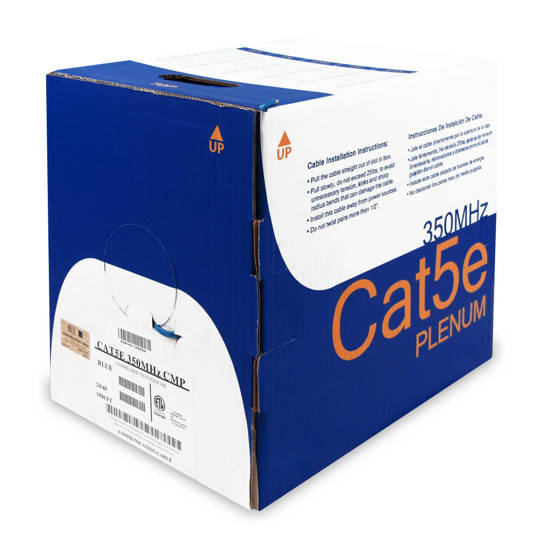 Picture of Wavenet WAV-CAT5-CMP-WH - 5E04UPWH4 CAT5 PLENUM 1K WHITE